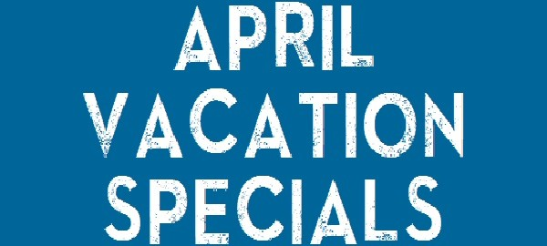 April School Vacation Image. Use KIDS Code to apply this Offer